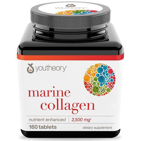 Youtheory Marine Collagen Enhanced Formula Tablets - 160 ea