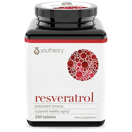 Youtheory Resveratrol Anti-Aging Benefits 250mg Tablets - 290 ea