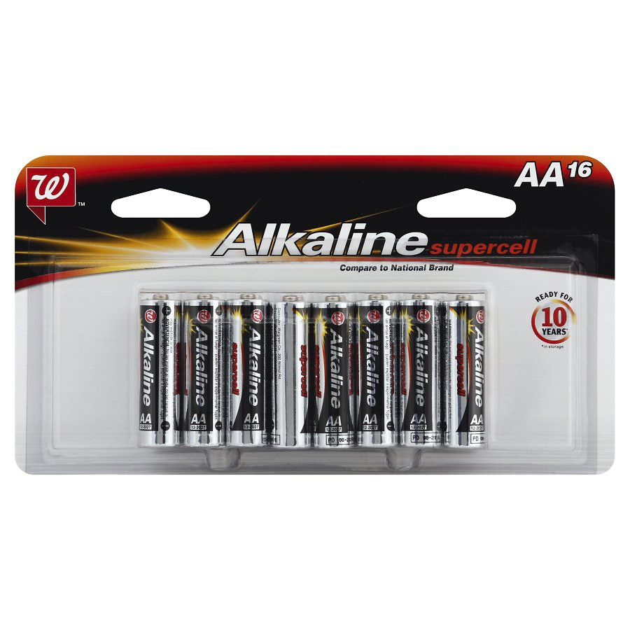 Walgreens Alkaline Supercell Batteries Aa16 0 Ea