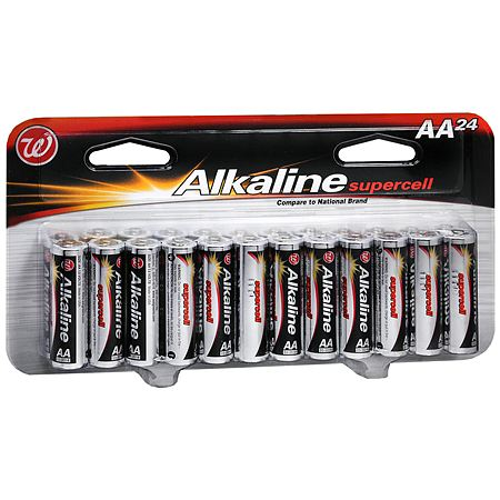 Walgreens Alkaline Supercell Batteries AA - 24 ea