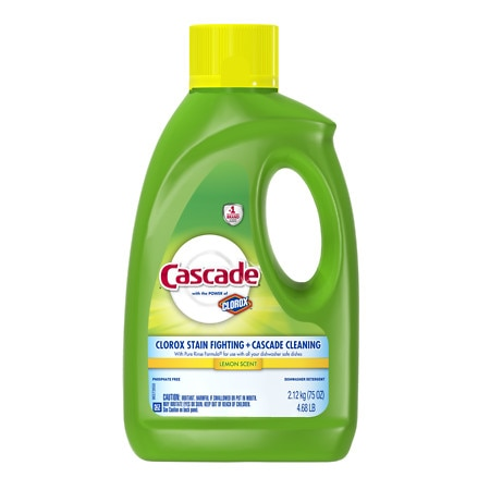 Cascade Gel Dishwasher Detergent Lemon - 75 oz.