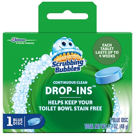 Vanish Drop-Ins Toilet Cleaning Tablet with Scrubbing Bubbles - 1.7 oz.