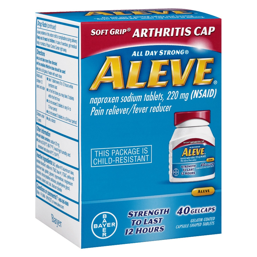 aleve pain reliever/fever reducer gelcaps | walgreens