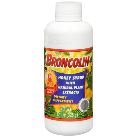 Broncolin Honey Syrup Dietary Supplement, Regular
