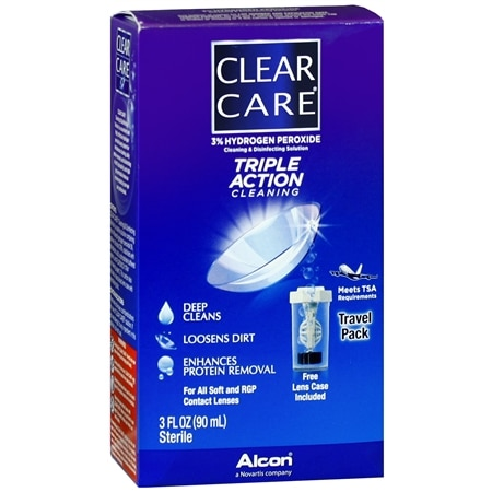 Clear Care Triple Action Cleaning & Disinfecting Solution Travel Pack