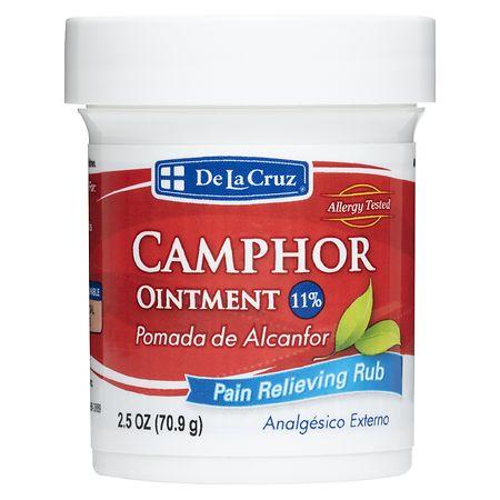 De La Cruz Camphor 11% Pain Relieving Ointment - 2.5 oz.