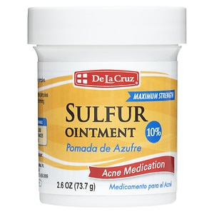 De La Cruz Sulfur Ointment 10% Acne Medication Ointment - 2.6 oz.