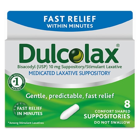Dulcolax Laxative Suppositories