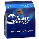 L'eggs Sheer Energy Control Top Sheer Toe Hosiery Q Plus Tan