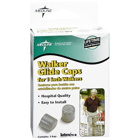 Medline Walker Glide Caps For 1 Inch Walkers