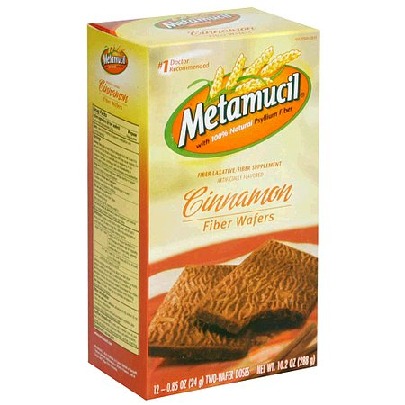 Metamucil Fiber Wafers Cinnamon - 10.2 oz.