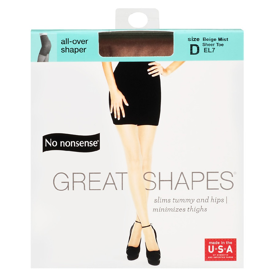3ba082e08 No Nonsense Great Shapes All-Over Shaper Sheer Toe Body Shaping Pantyhose  Beige Mist EL7