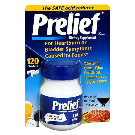 Prelief Acid Reducer Dietary Supplement Tablets - 120 ea