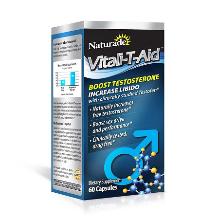 Naturade Vitali-T-Aid Testosterone Booster Dietary Supplement Capsule - 60 ea.