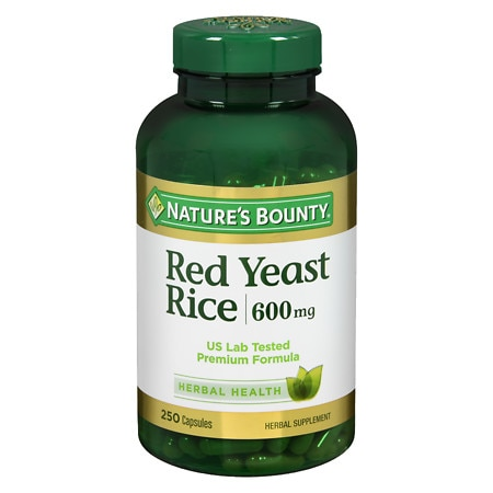Nature's Bounty Red Yeast Rice 600 mg Dietary Supplement Capsules - 250 ea