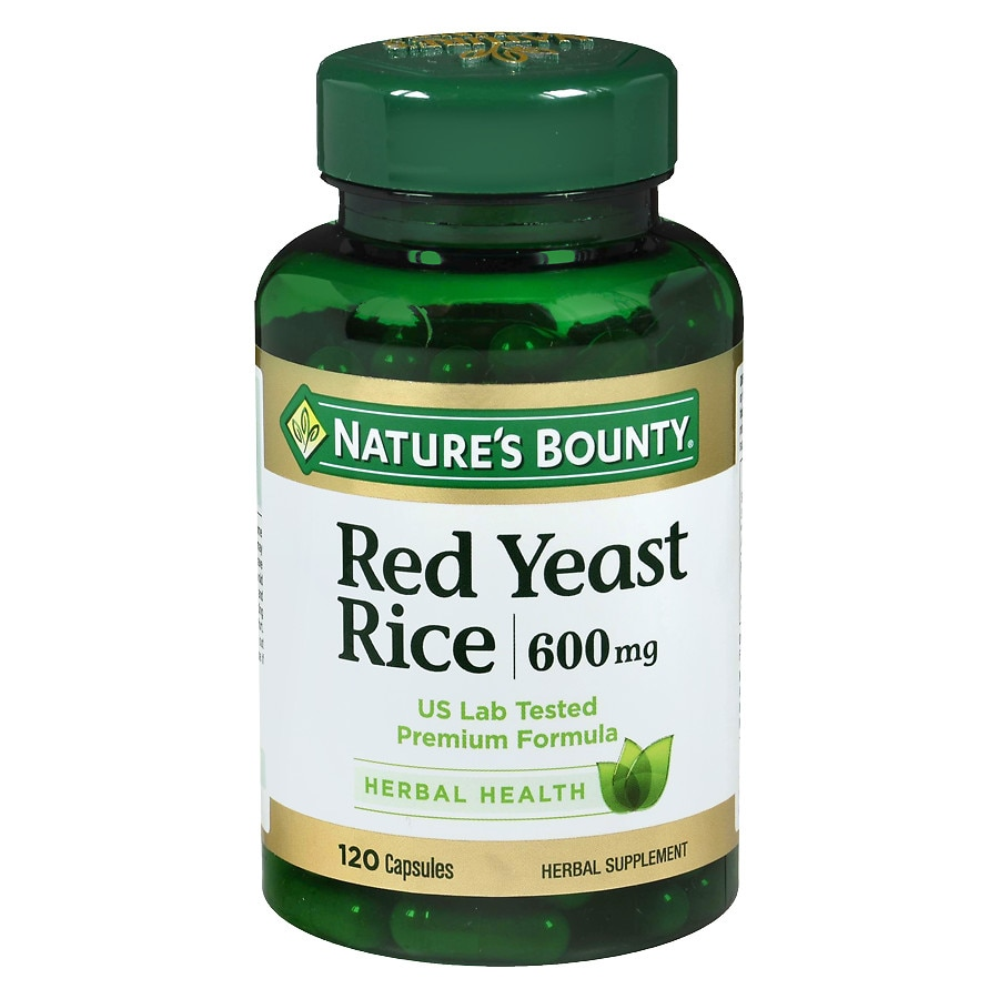 nature s bounty red yeast rice 600 mg capsules walgreens