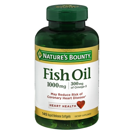 Nature's Bounty Fish Oil 1000 mg, Rapid Release Liquid Softgels - 135 ea