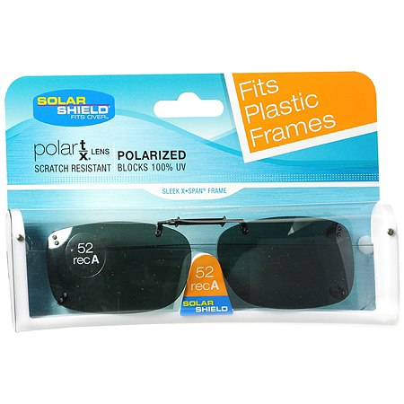 Solar Shield Fits Over Rimless Clip-On Sunglasses 52 RecA