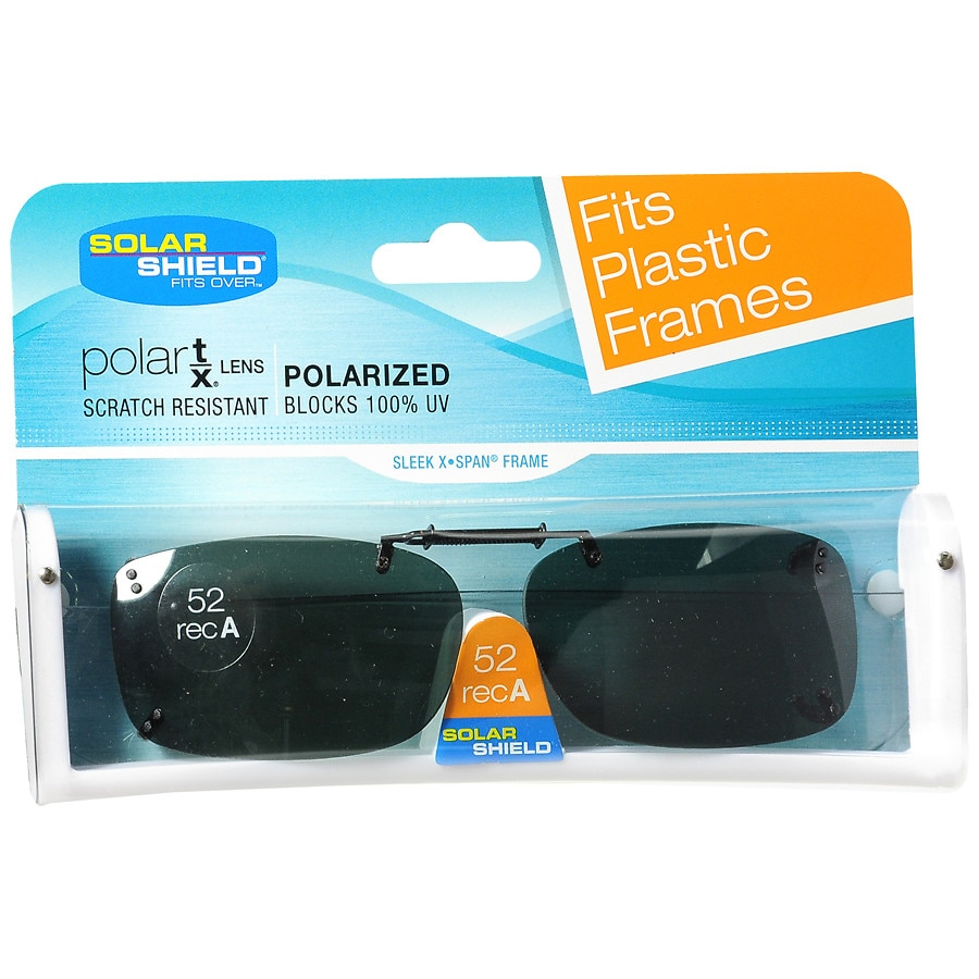 57bf453fe5 Solar Shield Fits Over Rimless Clip-On Sunglasses 52 RecA1.0 ea