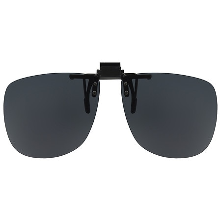 Solar Shield Fits Over Plastic Polarized 58 Aviator Clip On Flip Up Sunglasses Gray