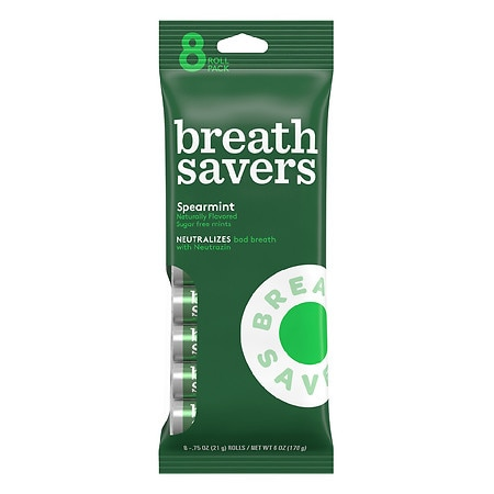 Breath Savers Sugar Free Mints Spearmint,8 pk