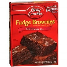 Betty Crocker Traditional Chewy Fudge Brownie Family Size
