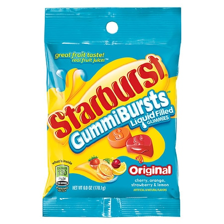Image of Starburst GummiBursts Liquid Filled Gummy Candy Assorted Flavors - 6 oz.