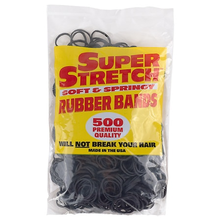 Super Stretch Soft & Springy Rubber Bands - 500 ea.
