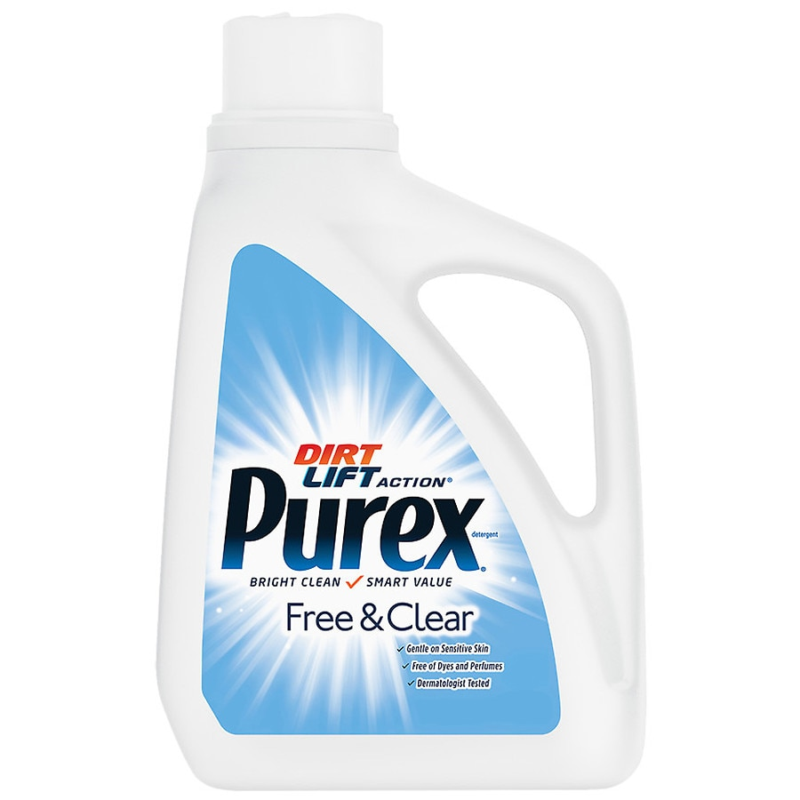 ultra purex laundry detergent liquid free clear walgreens