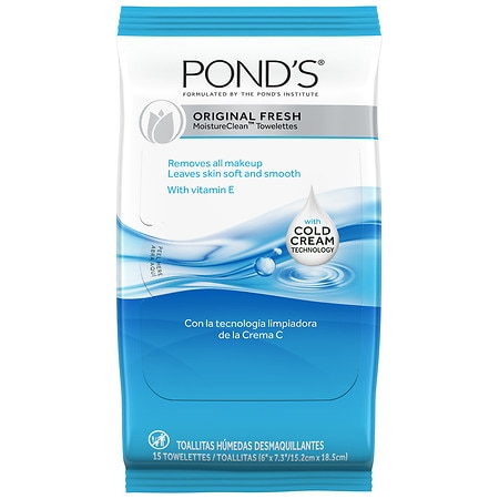 POND'S Wet Cleansing Towelettes Original Fresh