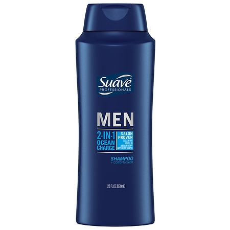 Suave Professionals Men 2-in-1 Shampoo & Conditioner Ocean Charge