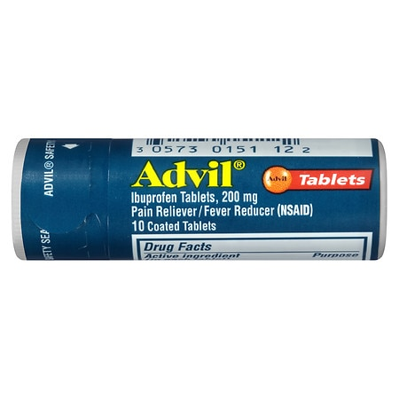 Advil Ibuprofen Pain Reliever/ Fever Reducer Tablets, 200 mg - 100 ea