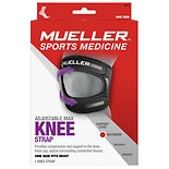 Mueller Sport Care Max Knee Strap, Maximum Support, Model 6479 One Size Black