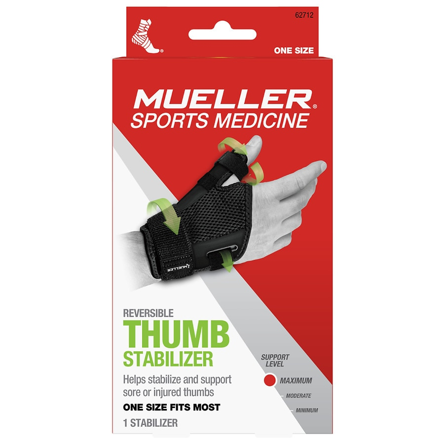 Mueller Thumb Stabilizer, Maximum Support, Model 62712 One Size Black