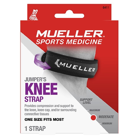 Mueller Jumper's Knee Strap, Maximum Support, Model 6411 One Size Black