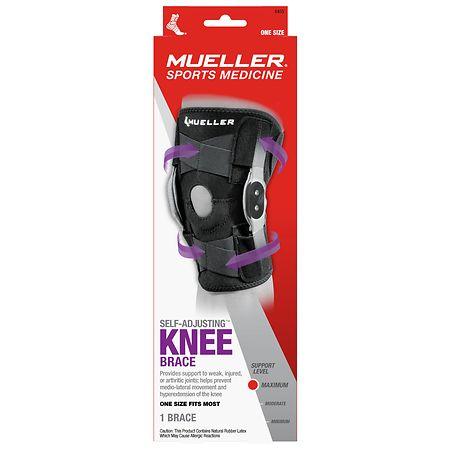 Mueller Adjustable Hinged Knee Brace, Maximum Support, Model 6455 One Size - 1 ea