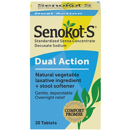 Senokot S Natural Vegetable Laxative Stool Softener