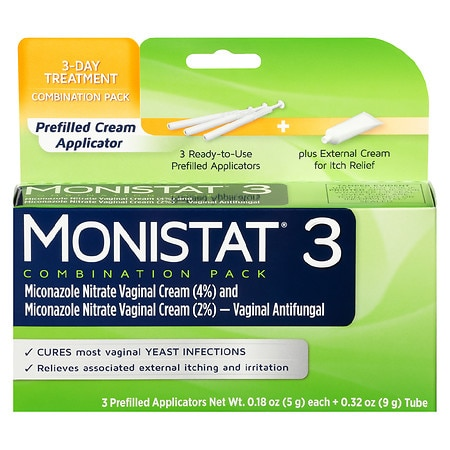 Image of Monistat 3 Cream Prefilled Applicator - 3 ea
