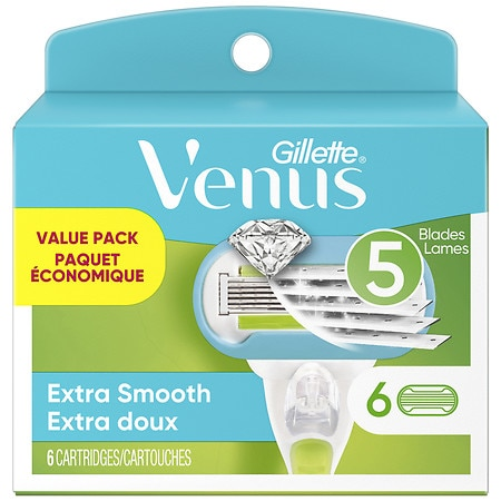 Gillette Venus Embrace Razor Refill Cartridges 6 Ea
