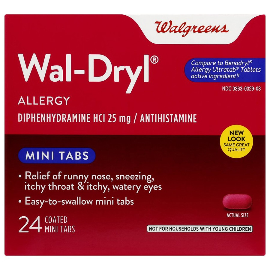 Walgreens Wal Dryl Allergy Relief Coated Mini Tabs Walgreens
