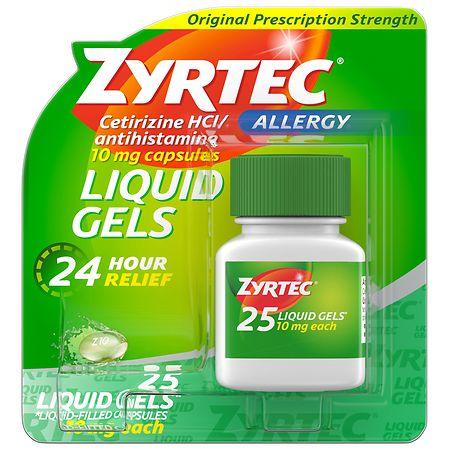 Zyrtec Allergy 24 Hour 10mg Liquid Gels