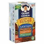 Quaker Instant Oatmeal Lower Sugar Flavor Variety
