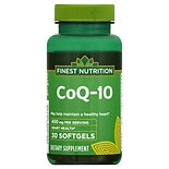 Finest Nutrition Co Q-10 400 mg Dietary Supplement Softgels