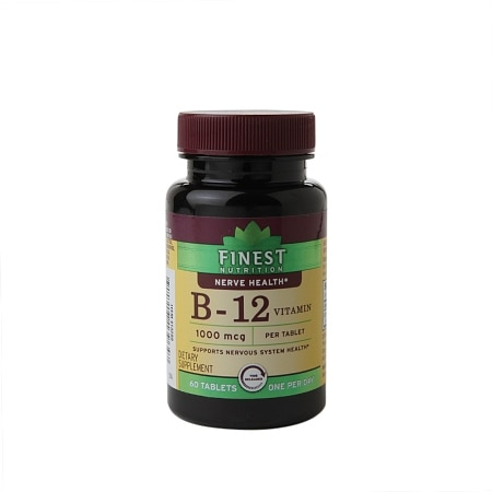 Finest Nutrition B-12 Vitamin 1000 mcg Dietary Supplement Tablets Time Released - 60 ea