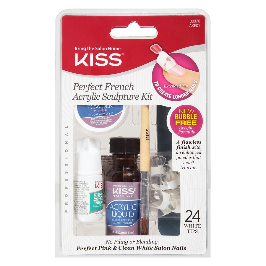 Acrylic nail kits walgreens kiss perfect french acrylic sculpture kit pink solutioingenieria Image collections