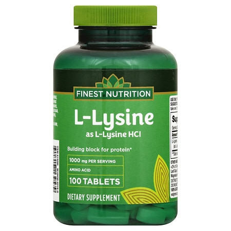 Finest Nutrition L-Lysine 1000 mg Dietary Supplement Tablets
