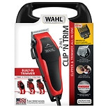 Wahl Clip 'N Trim Haircut Kit, Model  79900-1501 Red/ Black