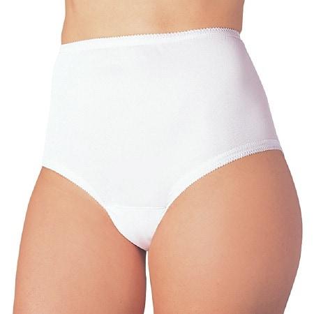 Wearever Reusable Women's Cotton Comfort Incontinence Panty White - 3 ea