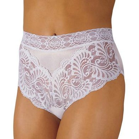 Wearever Reusable Women's Lovely Lace Trim Incontinence Panty White - 1 ea