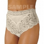 Wearever Reusable Women's Lovely Lace Trim Incontinence Panty Ivory